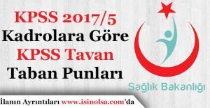 Sağlık Bakanlığı KPSS 2017/5 Kadrolara...