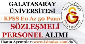 Galatasaray Üniversitesi Sözleşmeli Personel Alımı