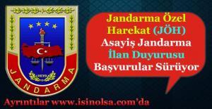 Jandarma Özel Harekat (JÖH) ve Jandarma Asayiş Emniyet Alımları Yapılıyor!