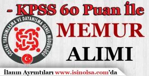KPSS 60 Puan İle SYDV Büro Personeli Alımı