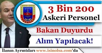 Bakan Süleyman Soylu Müjdeledi! Jandarmaya 3 Bin 200 Askeri Personel Alınacak