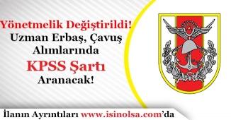 Türk Silahlı Kuvvetleri Uzman Erbaş ve Çavuş Alımına KPSS Şartı Getirildi!