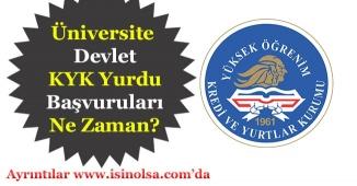 Üniversite Yurt Başvuruları Ne Zaman? KYK Devlet Yurtları Hakkında Tüm Bilgiler