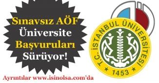 Sınavsız AÖF Üniversite Başvuruları Sürüyor!