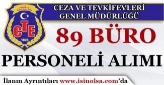 Adalet Bakanlığı CTE 89 Büro Personeli Alımı Yapacak!