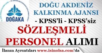 Doğu Akdeniz Kalkınma Ajansı Sözleşmeli Personel Alımı