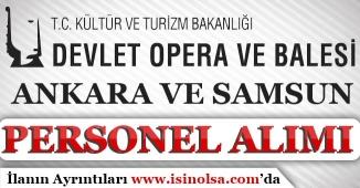 Kültür Bakanlığı Ankara ve Samsun DOB Sözleşmeli Personel Alımı Yapıyorlar!