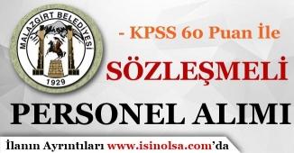 Malazgirt Belediyesi Sözleşmeli Personel Alım İlanı Yayımladı!