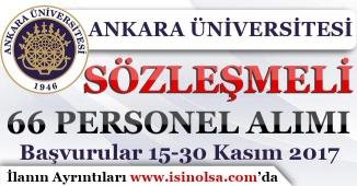 Ankara Üniversitesi 66 Sözleşmeli Hemşire Alımı Yapıyor