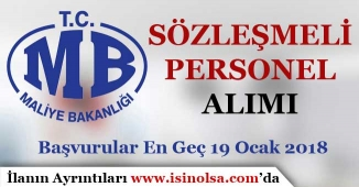 Maliye Bakanlığı Sözleşmeli Personel Alımı Yapıyor! 2016 veya 2017 KPSS ile
