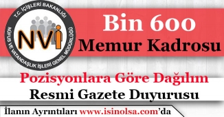 Nüfus Müdürlükleri Bin 600 Memur Alımı Kadrosu Onaylandı! Hangi Pozisyonlara Alım Yapılacak?