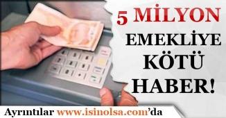 5 Milyon Emekliye Kötü Haber! AYM Reddetti