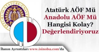 Eskişehir Anadolu AÖF Mü Kolay? Erzurum ATA AÖF Mü Kolay?