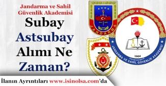 Jandarma ve Sahil Güvenlik Akademisi (JSGA) Subay ve Astsubay Alımları Ne Zaman Yapılacak?