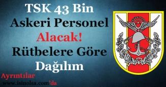TSK 43 Bin Asker Alacak! Rütbelere Göre Askeri Personel Alımları