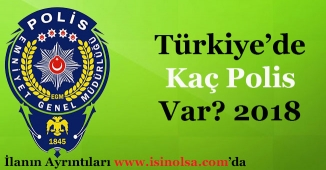 Türkiye'de Kaç Polis Var 2018? (Polis Memuru - Komiser - Başkomiser - Amir Sayısı)
