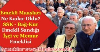 2018 Emekli Maaşı Ne Kadar? SSK - Bağ-Kur - Emekli Sandığı (İşçi - Memur Emeklisi)