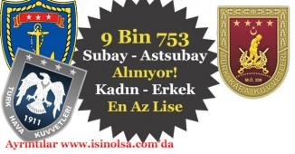 En Az Lise 9 Bin 753 Subay ile Astsubay Alıyor! Kadın - Erkek