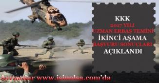 Milli Savunma Bakanlığı Uzman Erbaş İkinci Aşama Başvuru Sonuçları