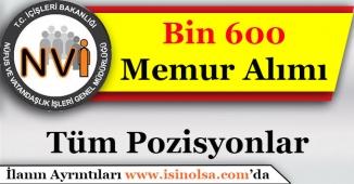 Nüfus MüdürlükleriBin 600 (1600) Nüfus Memuru Alımı Yapacak!