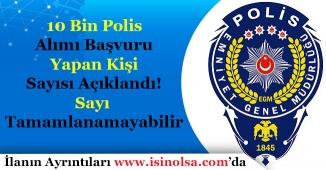 10 Bin Polis Alımına Başvuru Yapan Aday Sayısı Açıklandı! Sayı Tamamlanamayabilir