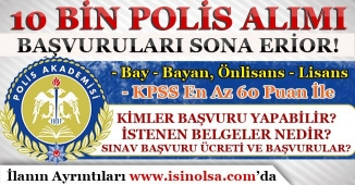 22. Dönem POMEM 10 Bin Polis Memuru Alımı Başvuruları Sona Eriyor!