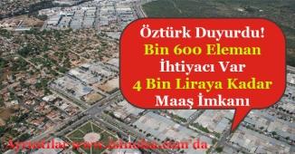 Antalya İçin Bin 600 Eleman Alınacak! 4 Bin Liraya Kadar Maaş Veriliyor!