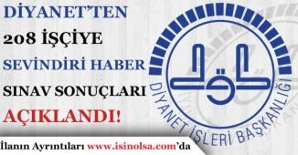 Diyanet İşleri Başkanlığı Taşeron Kadro Sınav Sonuçları Açıklandı