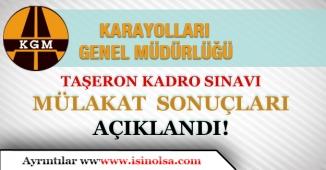 Karayolları Genel Müdürlüğü Kadroya Geçiş Sınav Sonuçları Açıklandı