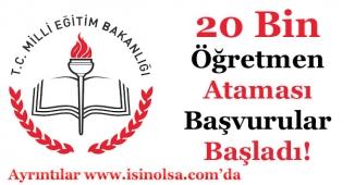 MEB 20 Bin Sözleşmeli Öğretmen Alımı Başvuruları Başladı!