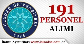 Uludağ Üniversitesi 2016 KPSS İle 191 Personel Alımı