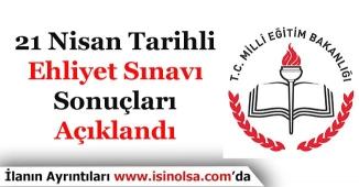 21 Nisan 2018 Tarihli MEB MTSK Ehliyet Sınav Sonuçları Açıklandı! Sorgulama Ekranı