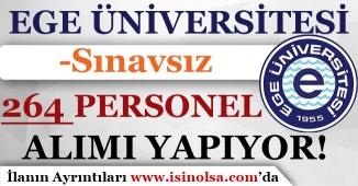 Ege Üniversitesi Sınavsız 264 Personel Alım Yapıyorı! ( Lise, Önlisans ve Lisans )