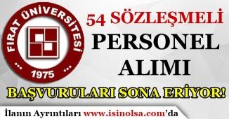 Fırat Üniversitesi Farklı Pozisyonlar İçin 54 Personel Alımı Başvuruları Sona Eriyor!
