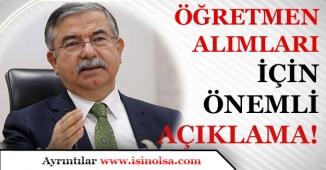 Milli Eğitim Bakanı YILMAZ'dan Sözleşmeli Öğretmen Alımı ile İlgili Önemli Açıklama!
