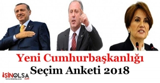 Yeni Cumhurbaşkanlığı Seçim Sonuçları Anketi 2018