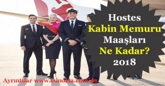 2018 Hostes, Kabin Memuru Maaşları Ne Kadar?