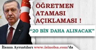Cumhurbaşkanı Erdoğan Kadro Bekleyen öğretmenler İçin Atama Açıklaması Yaptı!