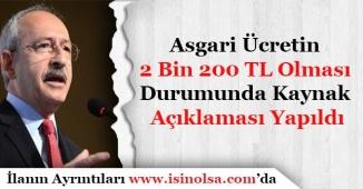 Kılıçdaroğlu Asgari Ücretin 2 Bin 200 Lira Olması İçin Kaynak Açıklaması Yaptı