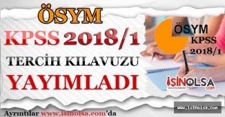 ÖSYM KPSS 2018/1 Terzih Kılavuzu Yayımlandı!
