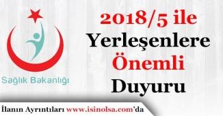 Sağlık Bakanlığına 2018/5 KPSS İle Yerleşenlere Güvenlik Soruşturma Açıklaması