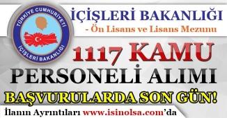 İçişleri Bakanlığı 1117 Kamu Personeli Alım Başvurularında Son Gün!