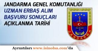Jandarma Genel Komutanlığı Uzman Erbaş Alım Sonuçları Ne Zaman Açıklanacak?