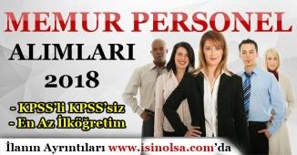 Memur PersonelAlımları 2018