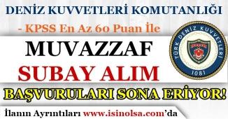 Deniz Kuvvetleri Komutanlığı 60 KPSS Puanı İle Muvazzaf Subay Alımı Sona Eriyor! Başvuru Ekranı