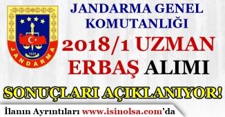 Jandarma 2018/1 Uzman Erbaş Alımı Sonuçları Açıklanıyor
