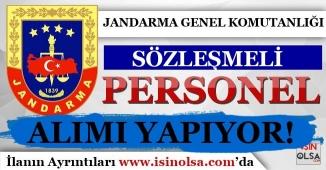Jandarma Genel Komutanlığı Tarafından Sözleşmeli Personel Alımı