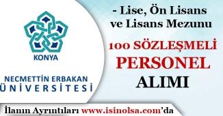 Necmettin Erbakan Üniversitesi 100 Sözleşmeli Personel Alım İlanı Yayımlandı!