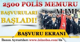PMYO Lise Mezunu 2500 Polis Memuru Alımı İçin Başvurular Başladı!