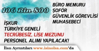 Türkiye Genelinde Tecrübesiz, En Az Lise Mezunu 106 Bin 800 İşçi, Memur ve Personel Alımı!